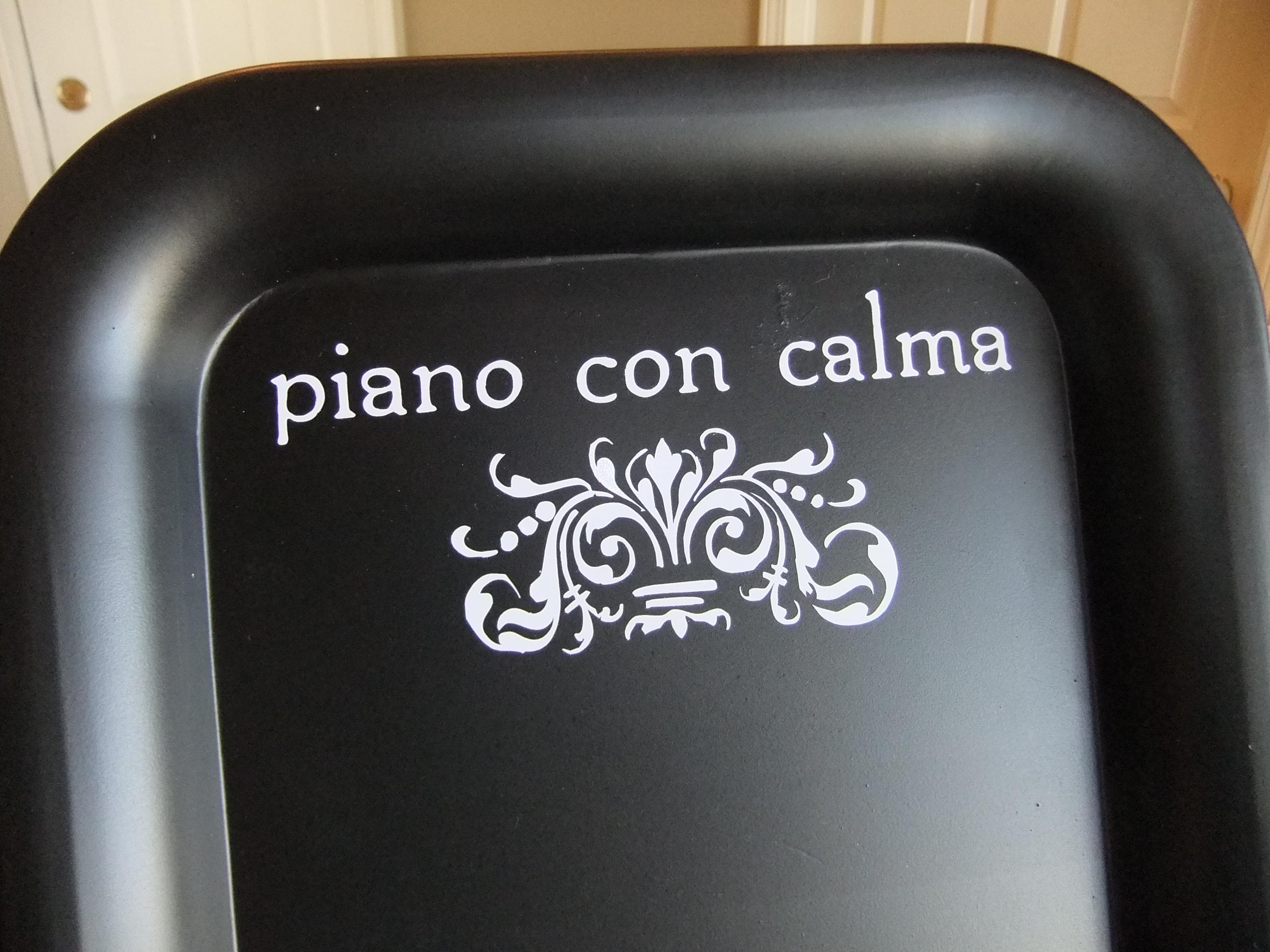 Piano con calma